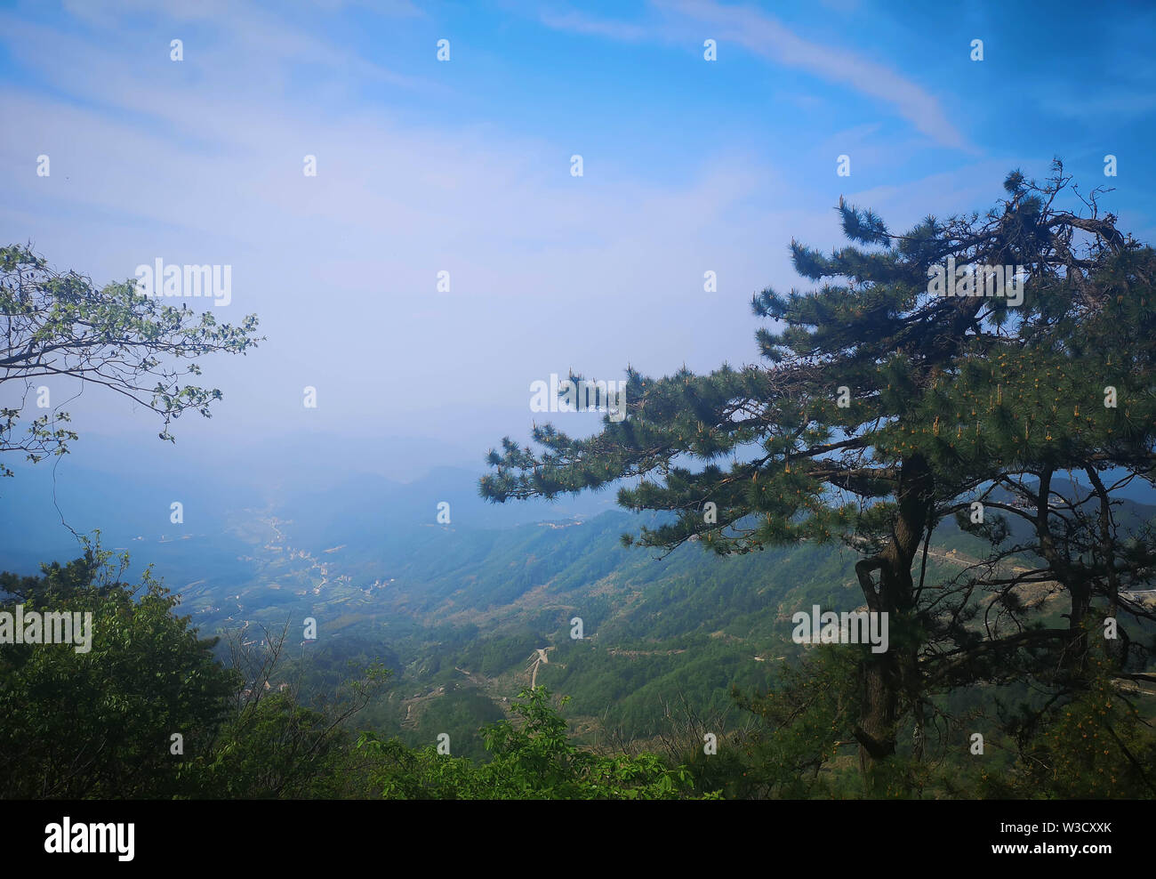 Beautiful mountain with blue sky, It's name The turtle mountain , located at the Ma Cheng city (Special name in Chinese language), Hubei province. - Stock Image