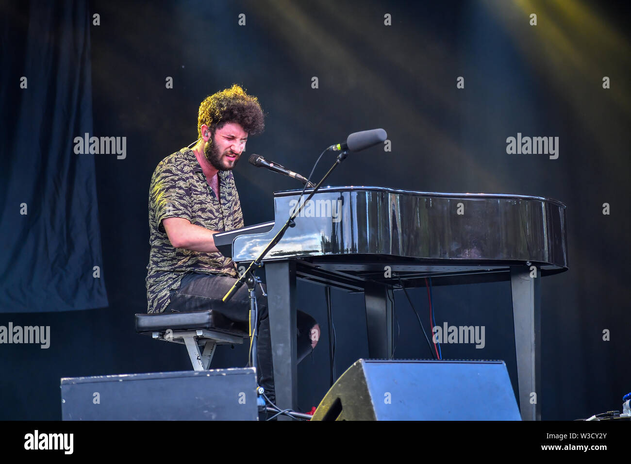 London, UK. 14th July 2019. Billy Lockett performs at Kew the Music 2019 on 14 July 2019, London, UK. Credit: Picture Capital/Alamy Live News - Stock Image