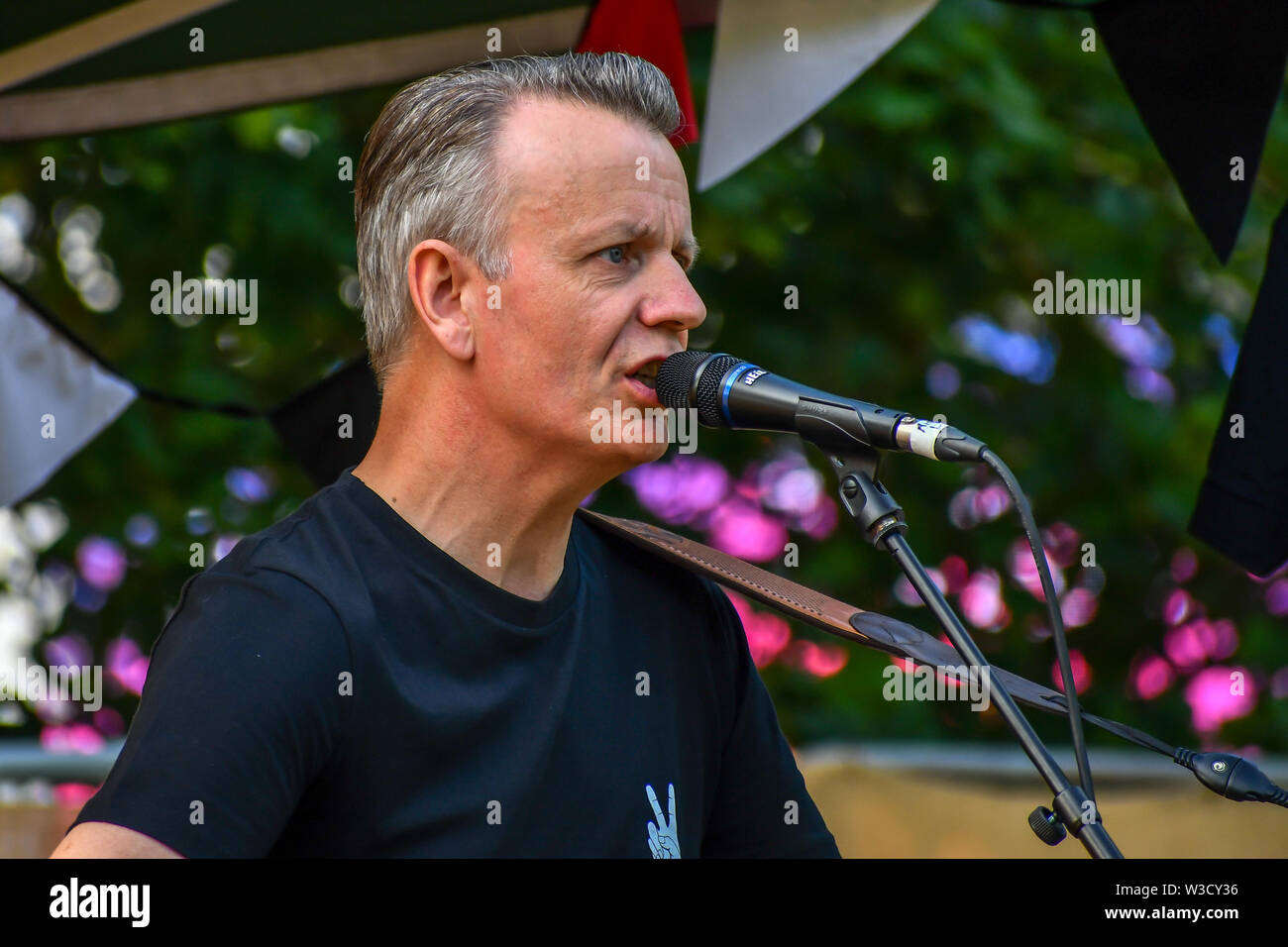 London, UK. 14th July 2019. Jamies Freeman performs at the Food Village at Kew the Music 2019 on 14 July 2019, London, UK. Credit: Picture Capital/Alamy Live News - Stock Image
