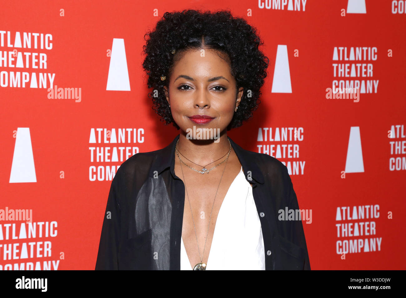 Opening night party for The Secret Life Of Bees held at Smithfield Hall - Arrivals. Featuring: Adrienne Warren Where: New York, New York, United States When: 13 Jun 2019 Credit: Joseph Marzullo/WENN.com - Stock Image