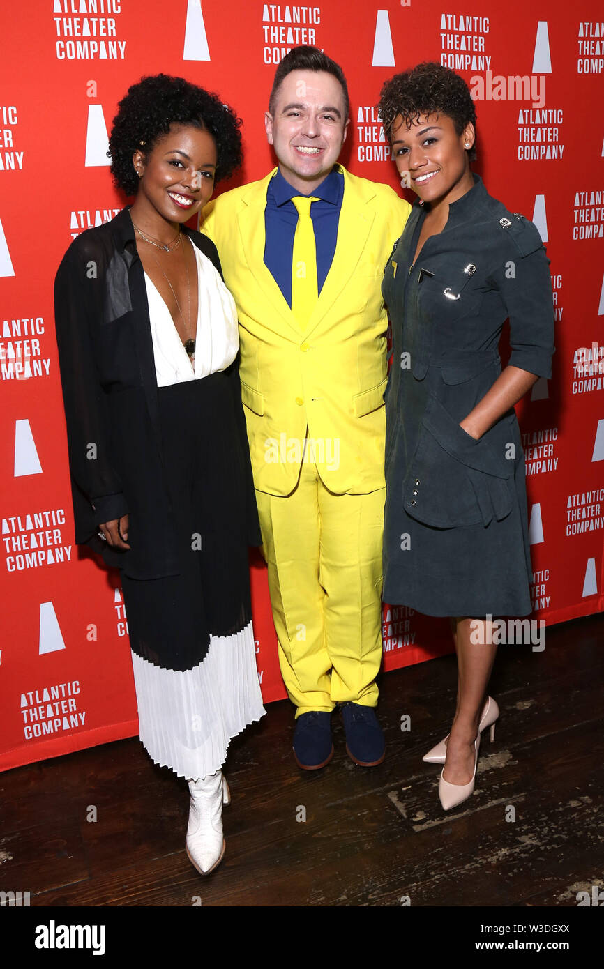 Opening night party for The Secret Life Of Bees held at Smithfield Hall - Arrivals. Featuring: Adrienne Warren, Benjamin Rauhala, Ariana DeBose Where: New York, New York, United States When: 13 Jun 2019 Credit: Joseph Marzullo/WENN.com - Stock Image