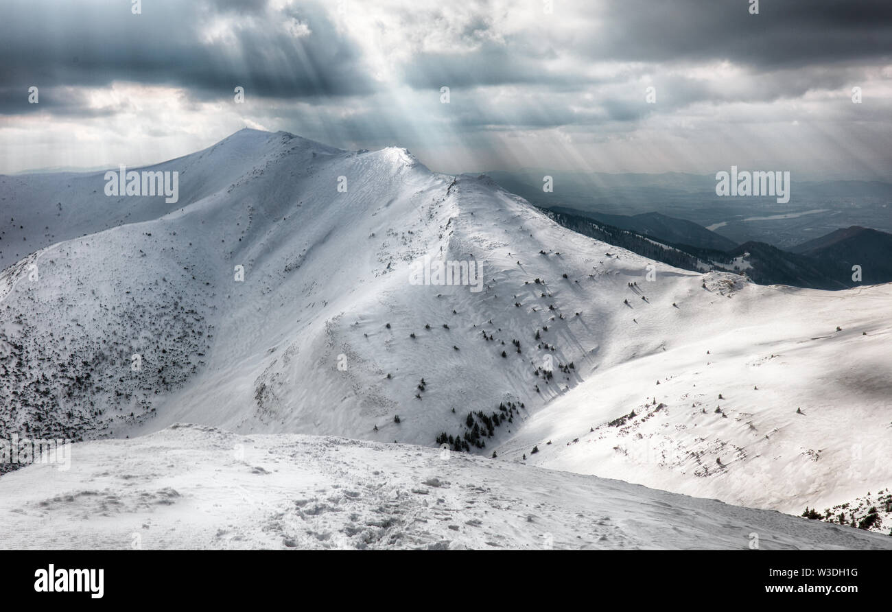 Winter mountain - Stock Image