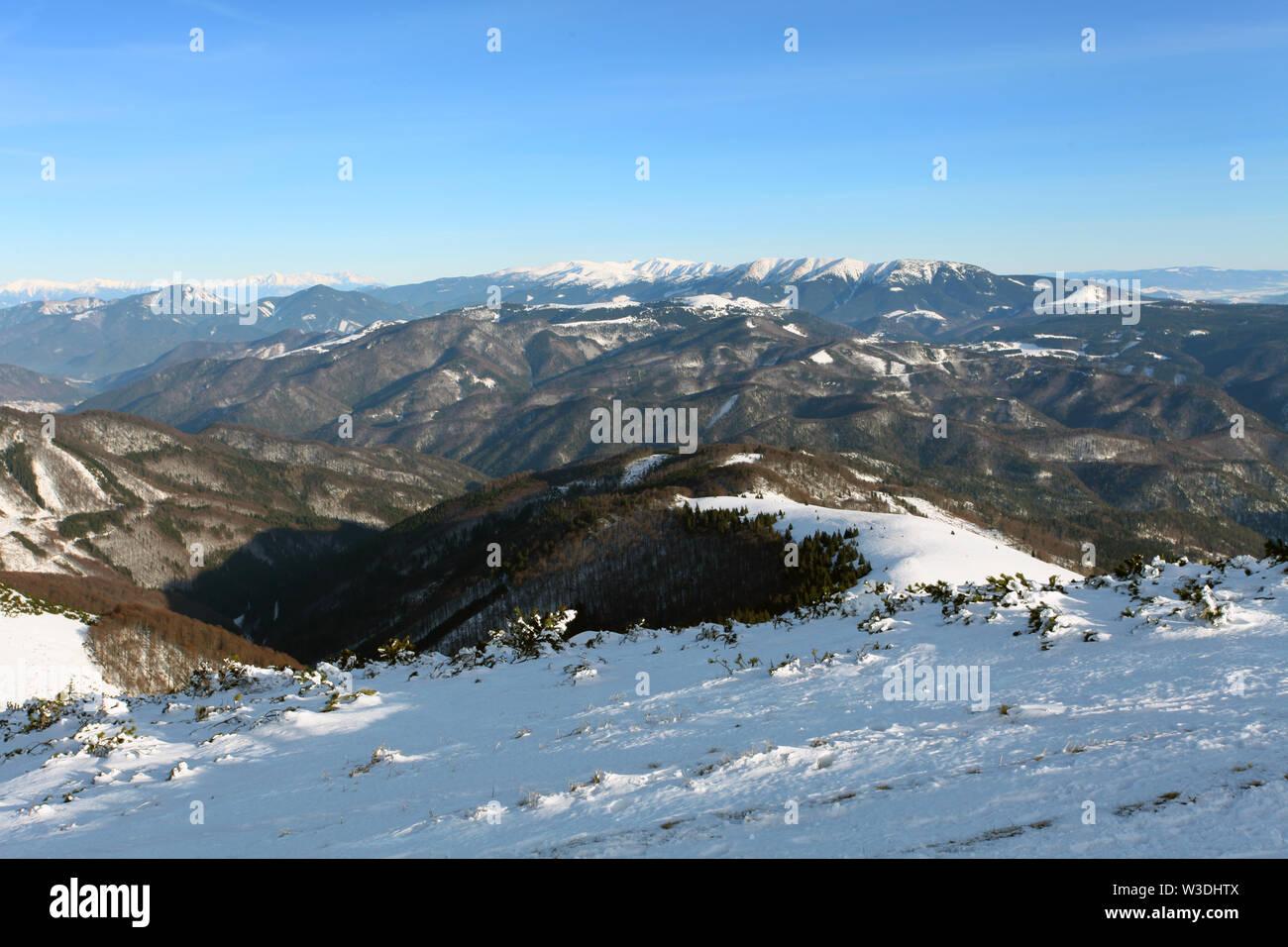 Slovakia mountain at winter - Fatras Stock Photo
