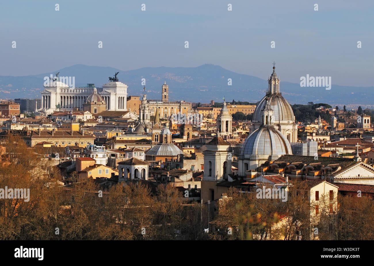 Rome - skyline, Italy Stock Photo