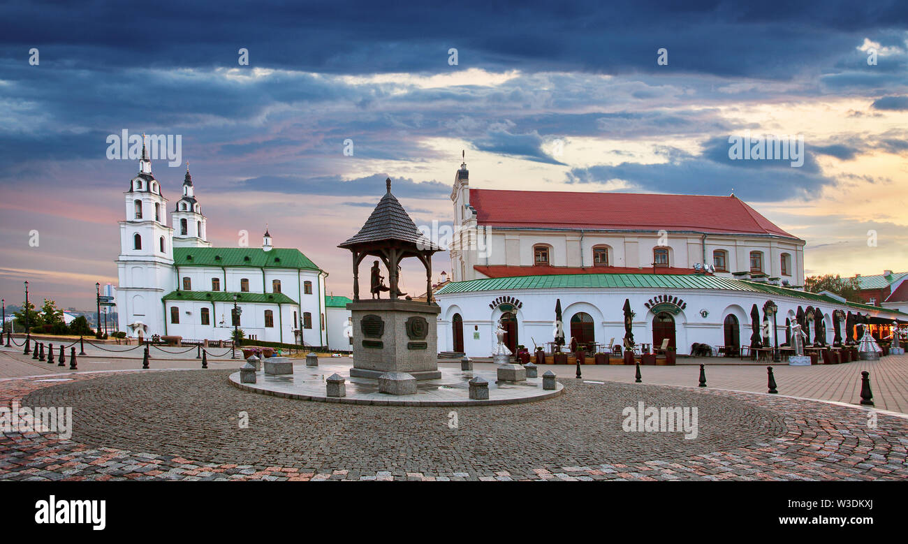 Minsk, Belarus. The Cathedral Of Holy Spirit In Minsk - The Main Orthodox Church Of Belarus And Symbol Of Capital Stock Photo