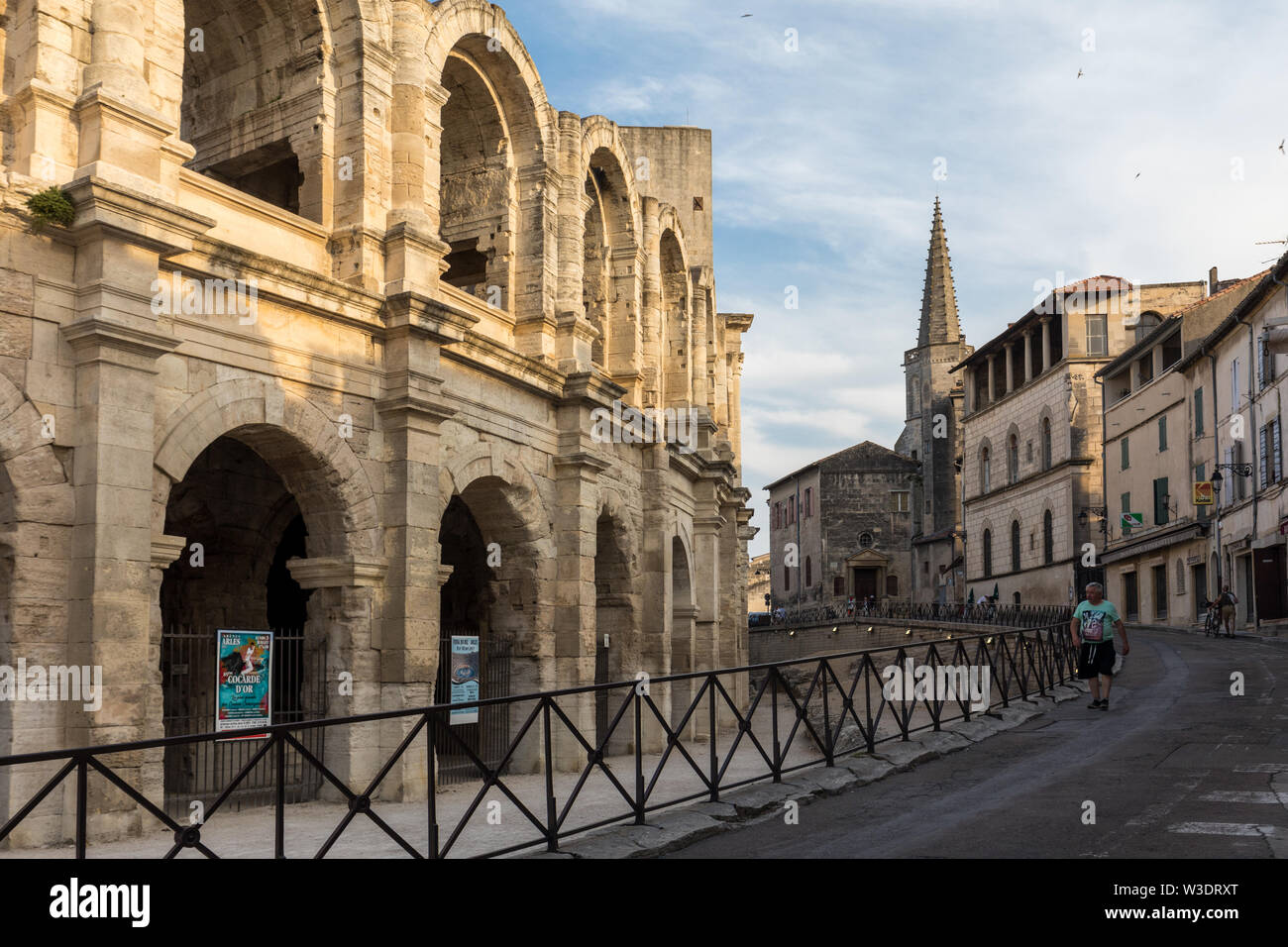 Arles, France - June 24, 2017: The Roman Amphitheater in the old town of Arles in Provence in the South of France. - Stock Image