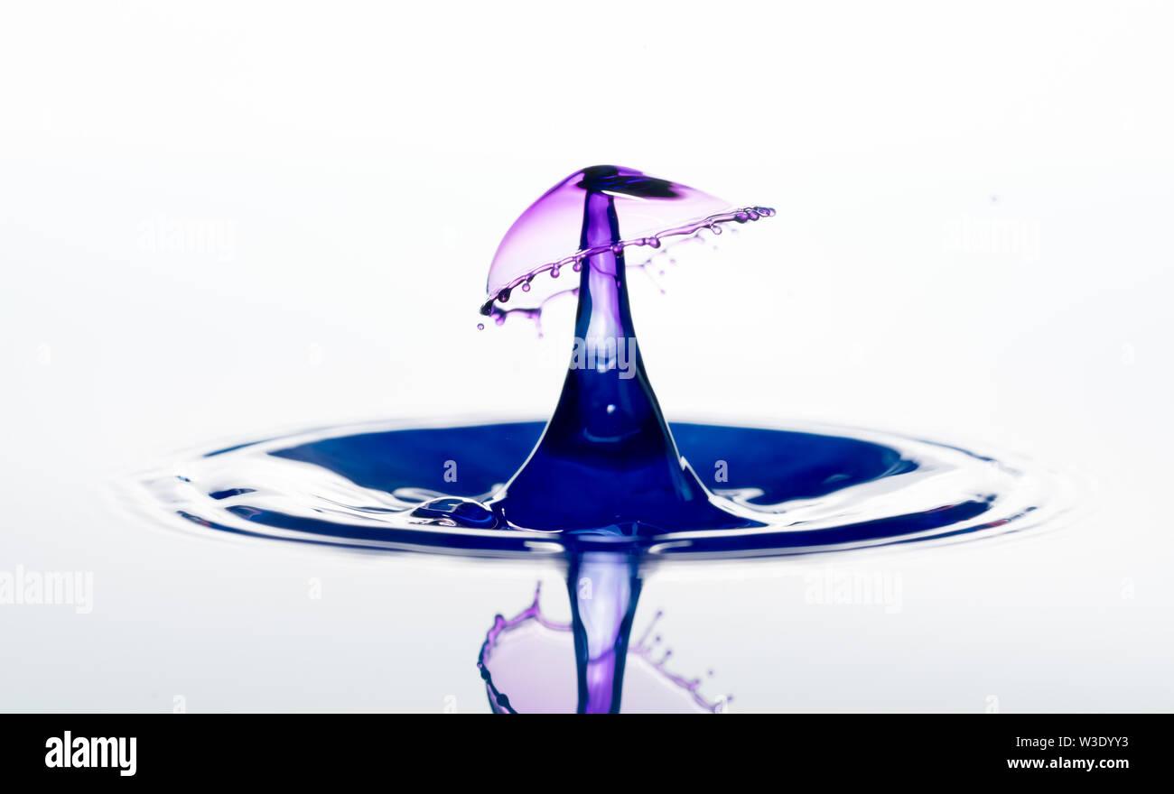 Water splash. drops collision - Stock Image