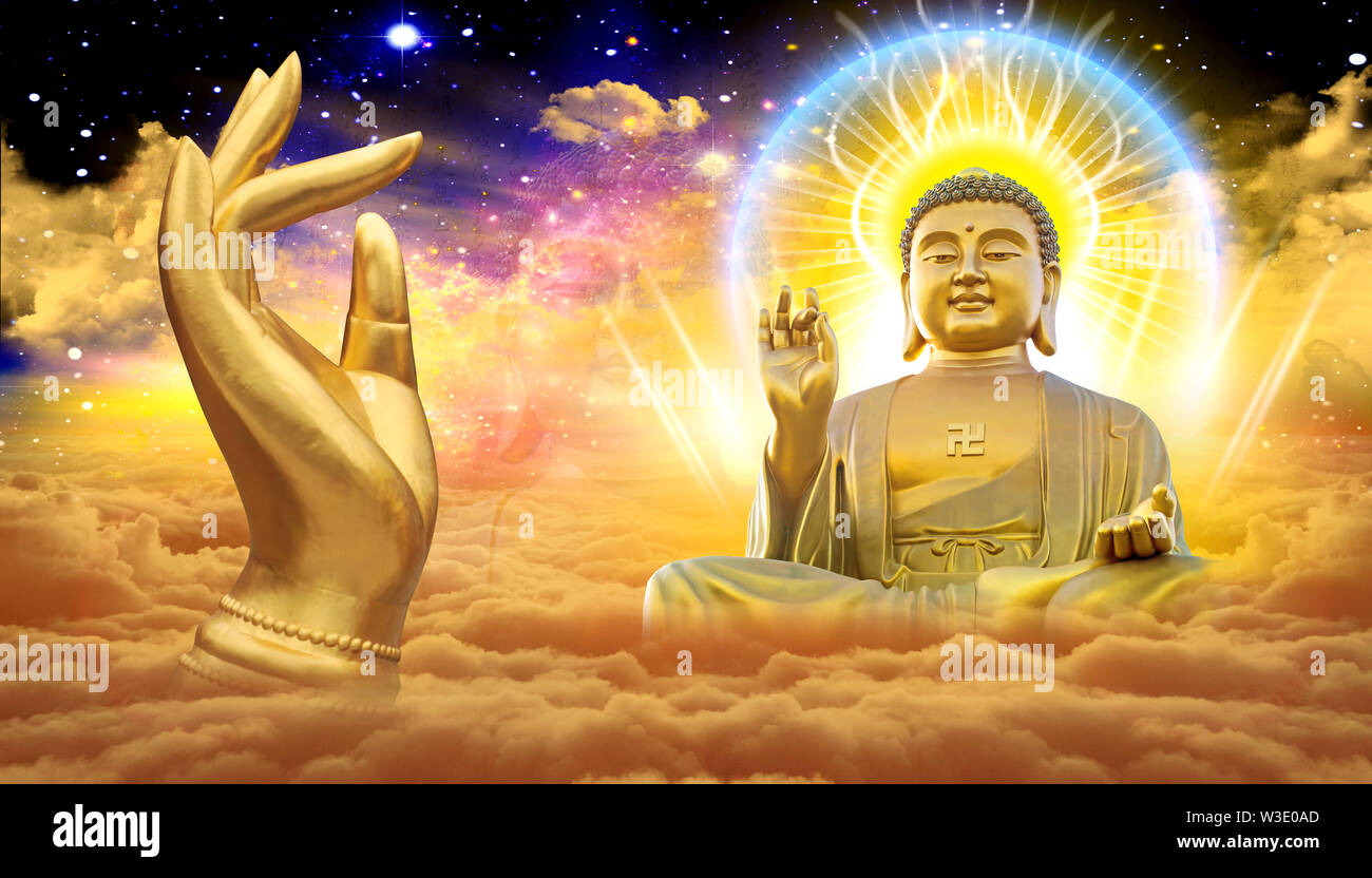 The Lord Buddha Wallpaper For Office House Use Stock Photo Alamy