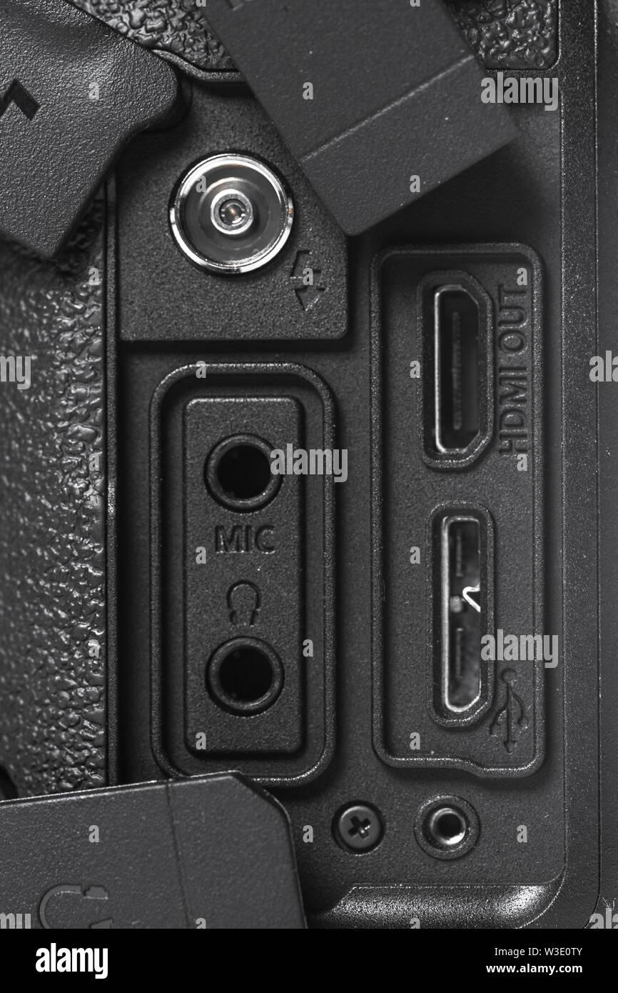 Closeup view of digital camera - Stock Image