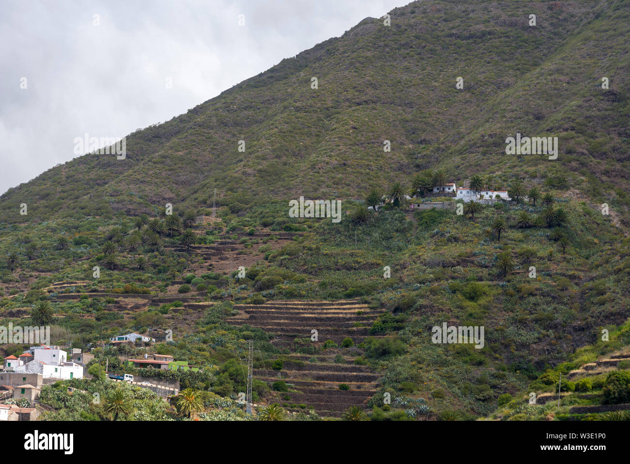 Taganana village on the island of Tenerife-Canary Islands Spain. The concept of tourism and recreation. - Stock Image