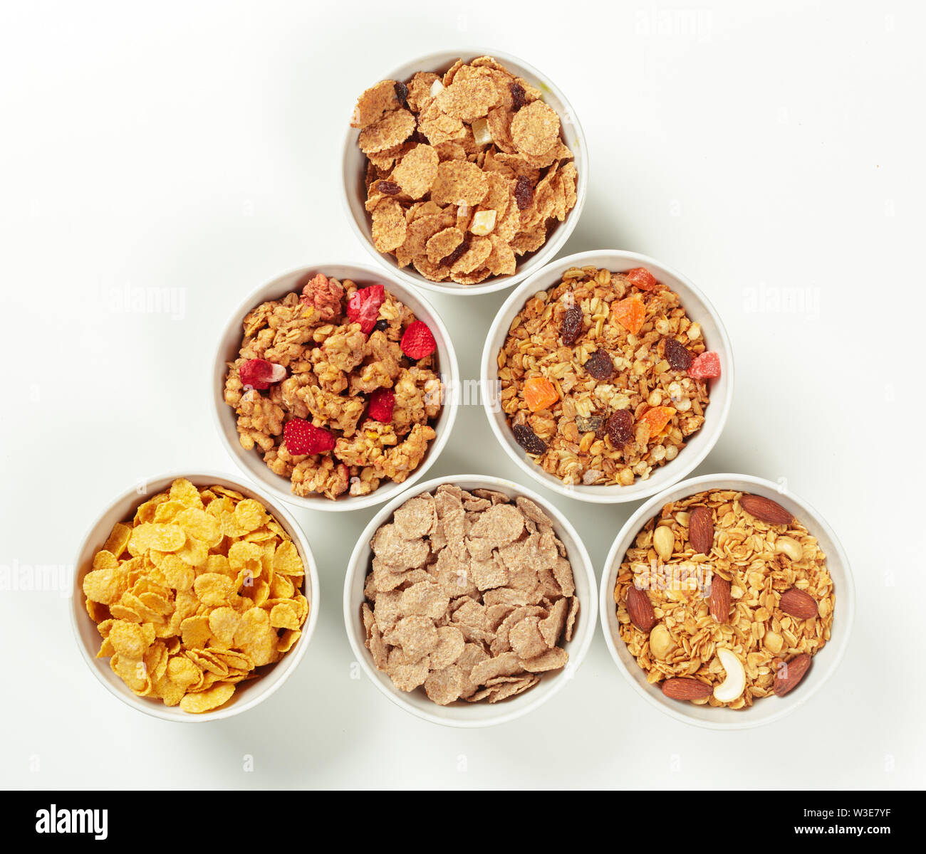Healthy diet breakfast ingredients Stock Photo