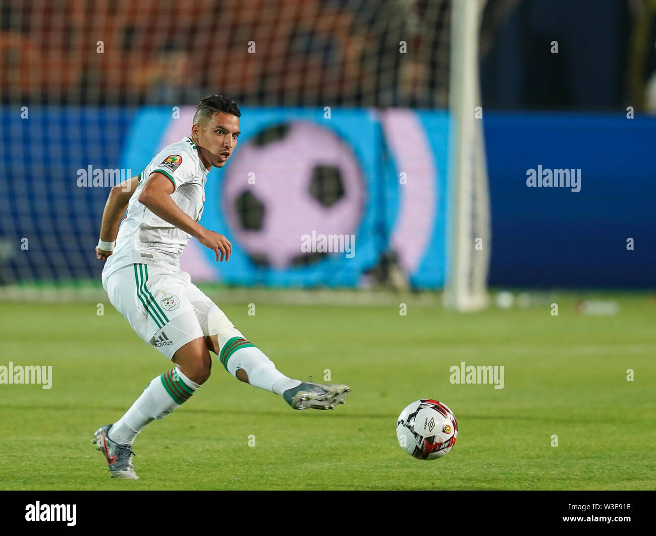 Cairo, Algeria, Egypt. 14th July, 2019. FRANCE OUT July 14, 2019: Ismael Bennacer of Algeria during the 2019 African Cup of Nations match between Algeria and Nigeria at the Cairo International Stadium in Cairo, Egypt. Ulrik Pedersen/CSM/Alamy Live News - Stock Image