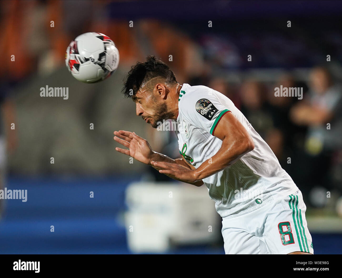 Cairo, Algeria, Egypt. 14th July, 2019. FRANCE OUT July 14, 2019: Mohamed Youcef Belaili of Algeria during the 2019 African Cup of Nations match between Algeria and Nigeria at the Cairo International Stadium in Cairo, Egypt. Ulrik Pedersen/CSM/Alamy Live News - Stock Image