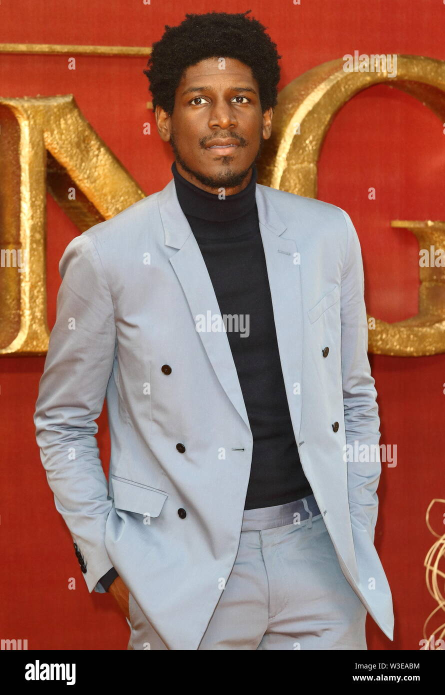 Labrinth attends the European Premiere of Disney's The Lion King at the Odeon Luxe cinema, Leicester Square in London. Stock Photo