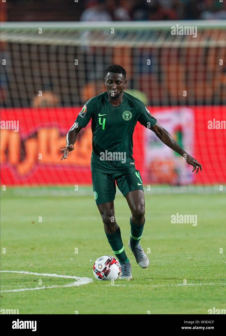 Cairo, Algeria, Egypt. 14th July, 2019. FRANCE OUT July 14, 2019: Ndidi onyinye Wilfred of Nigeria during the 2019 African Cup of Nations match between Algeria and Nigeria at the Cairo International Stadium in Cairo, Egypt. Ulrik Pedersen/CSM/Alamy Live News - Stock Image