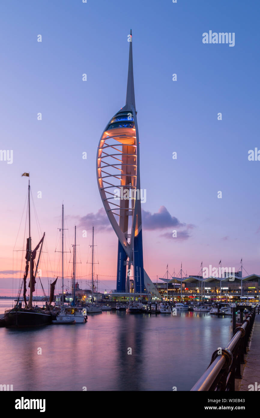 Emirates Spinnaker Tower at Gunwharf Quays in Portsmouth Harbour Stock Photo