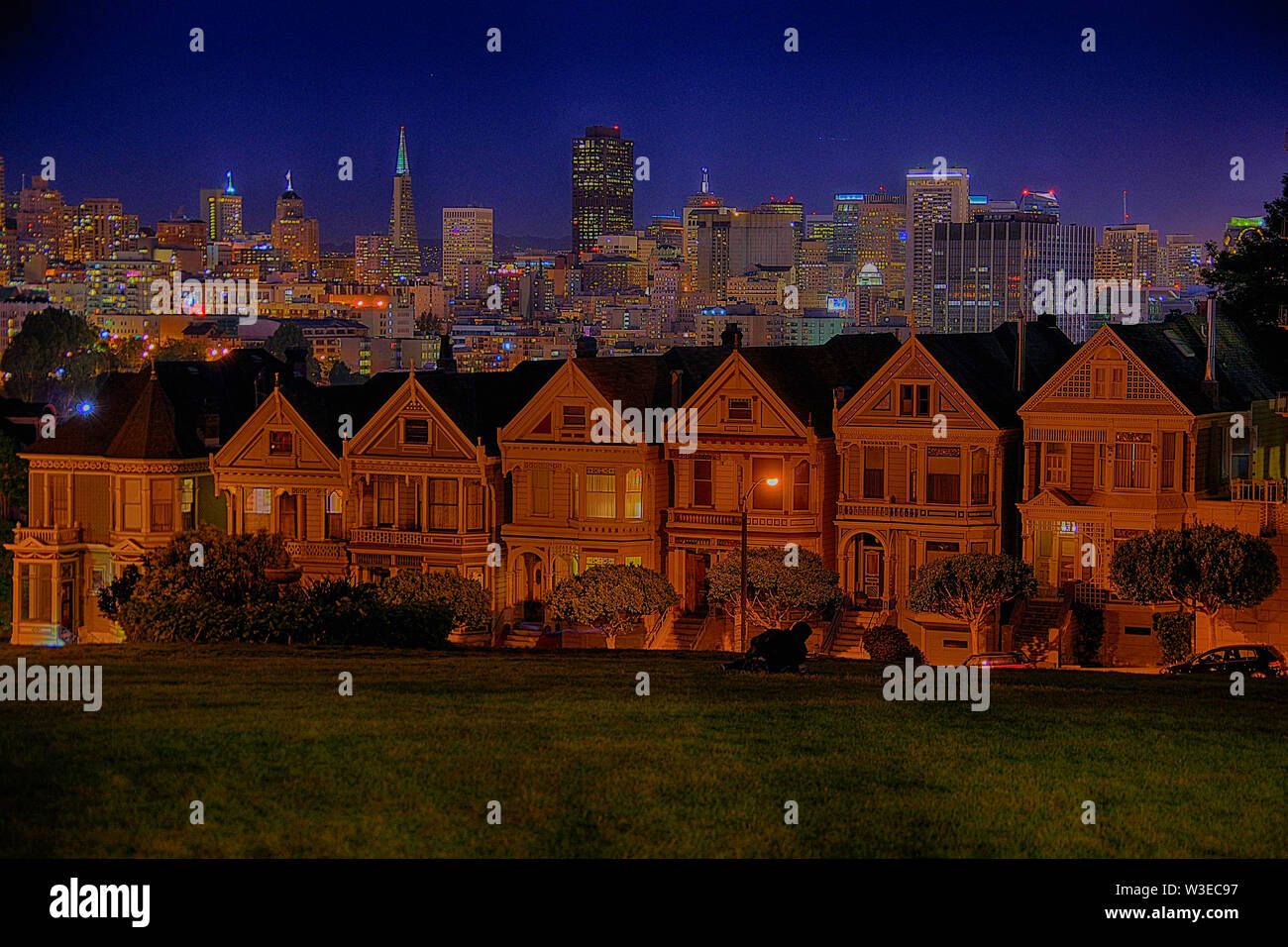 San Fransisco Cityscape At night - Stock Image