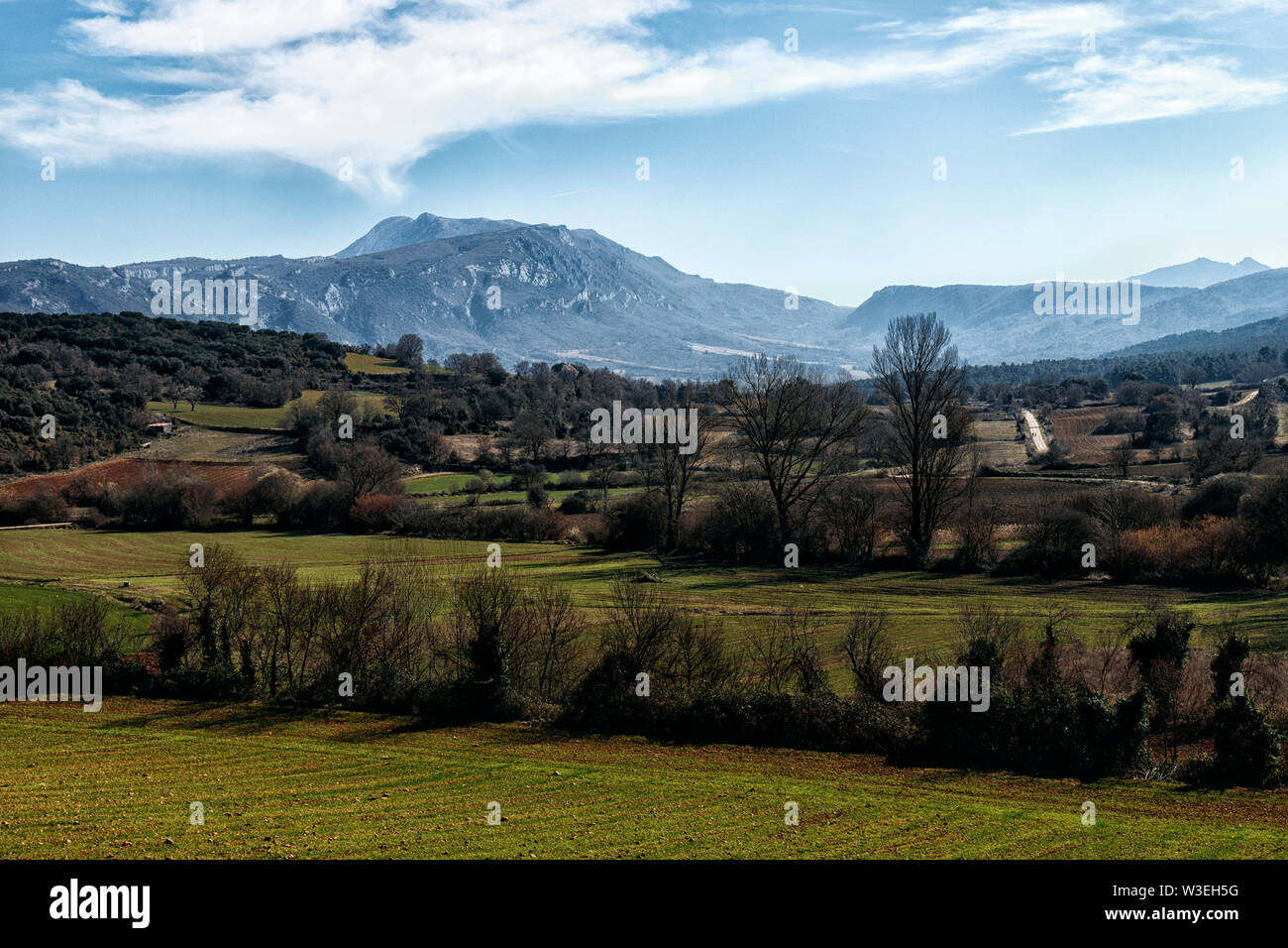landscape in the north of spain - Stock Image