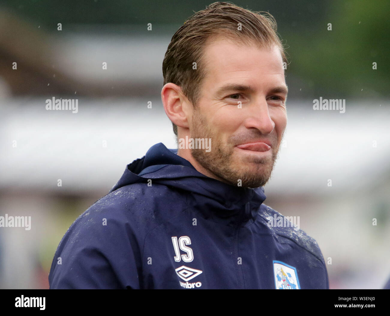 July 13, 2019 - Kitzbuehel, Austria - manager Jan Siewert (Huddersfield), after the victory.pre season friendly 2019/20, .Huddersfield Town FC vs Hamburger SV,.Stadion Kitzbuehel/Austria, July 13, 2019, .Huddersfield Town, the relegated team of the Premiere League wins in a pre season friendly against the former German champion Hamburger SV. (Credit Image: © Wolfgang Fehrmann/ZUMA Wire) - Stock Image