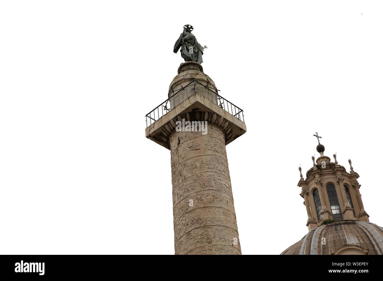 ROME, ITALY, JUNE 16, 2015 : architectural details of Trajan column, in roman forum, june 16, 2015, in Rome, Italy - Stock Image