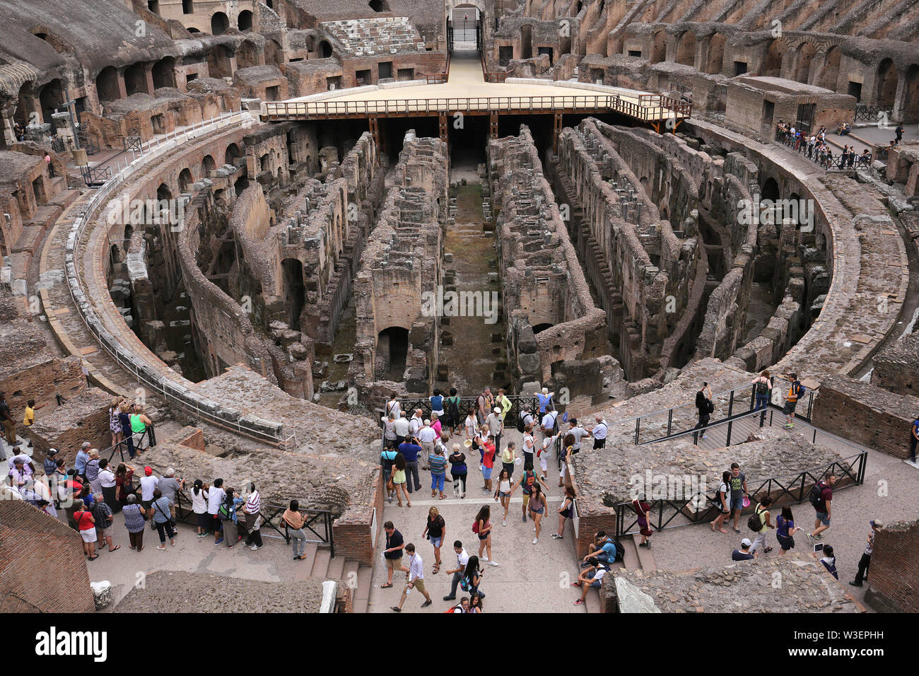 ROME, ITALY, JUNE 16, 2015 : architectural details of Colosseum amphitheatre, june 16, 2015, in Rome, Italy - Stock Image