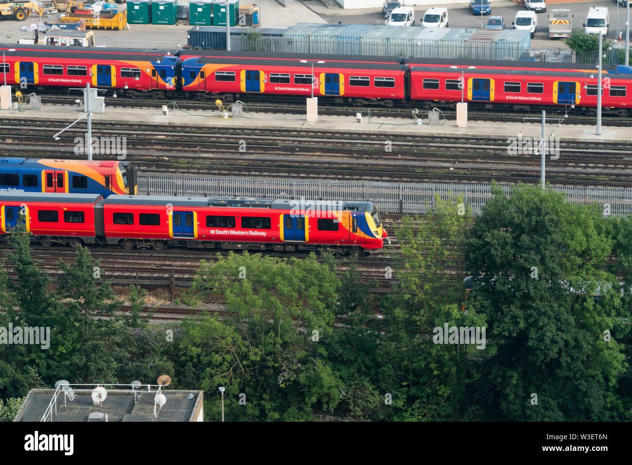 Clapham Junction Rail Station, London, Wandsworth - Stock Image