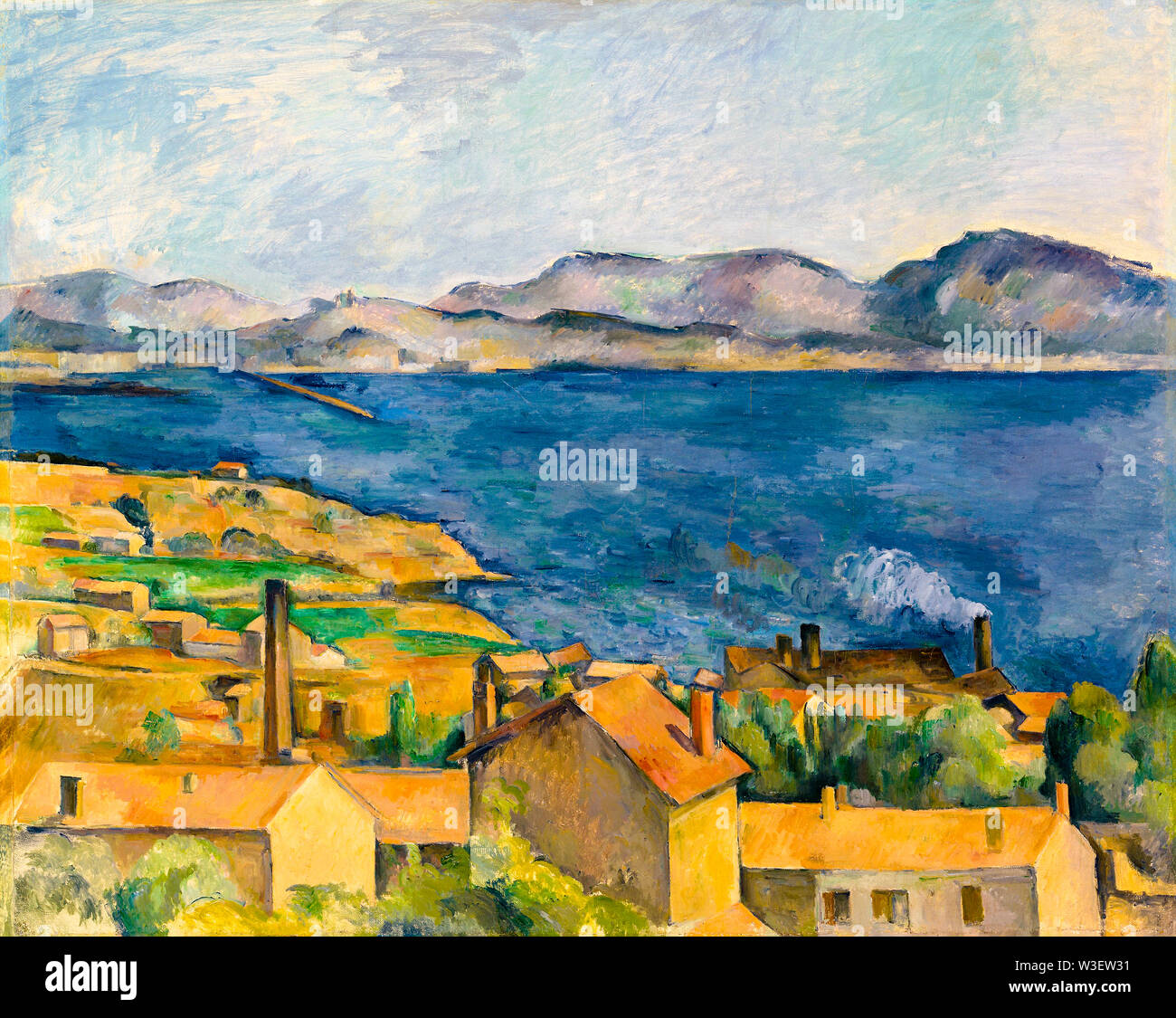Paul Cezanne The Bay Of Marseille Seen From L Estaque Landscape Painting Circa 1885 Stock Photo Alamy