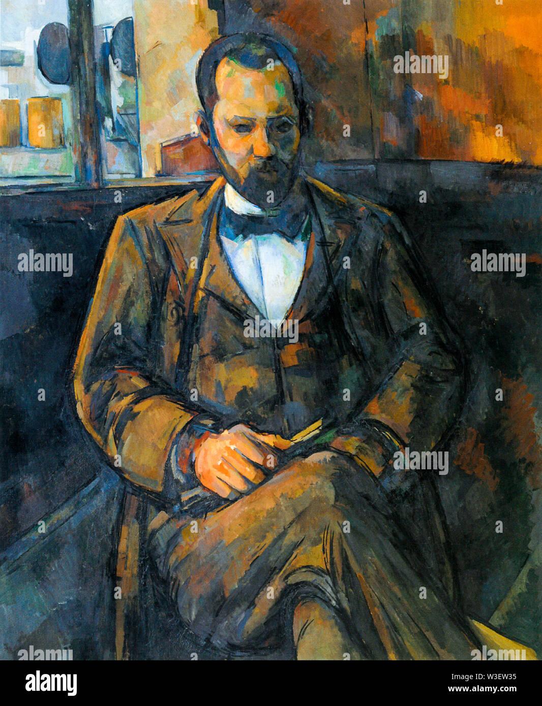 Paul Cézanne, Portrait of Ambroise Vollard, portrait painting, 1899 - Stock Image