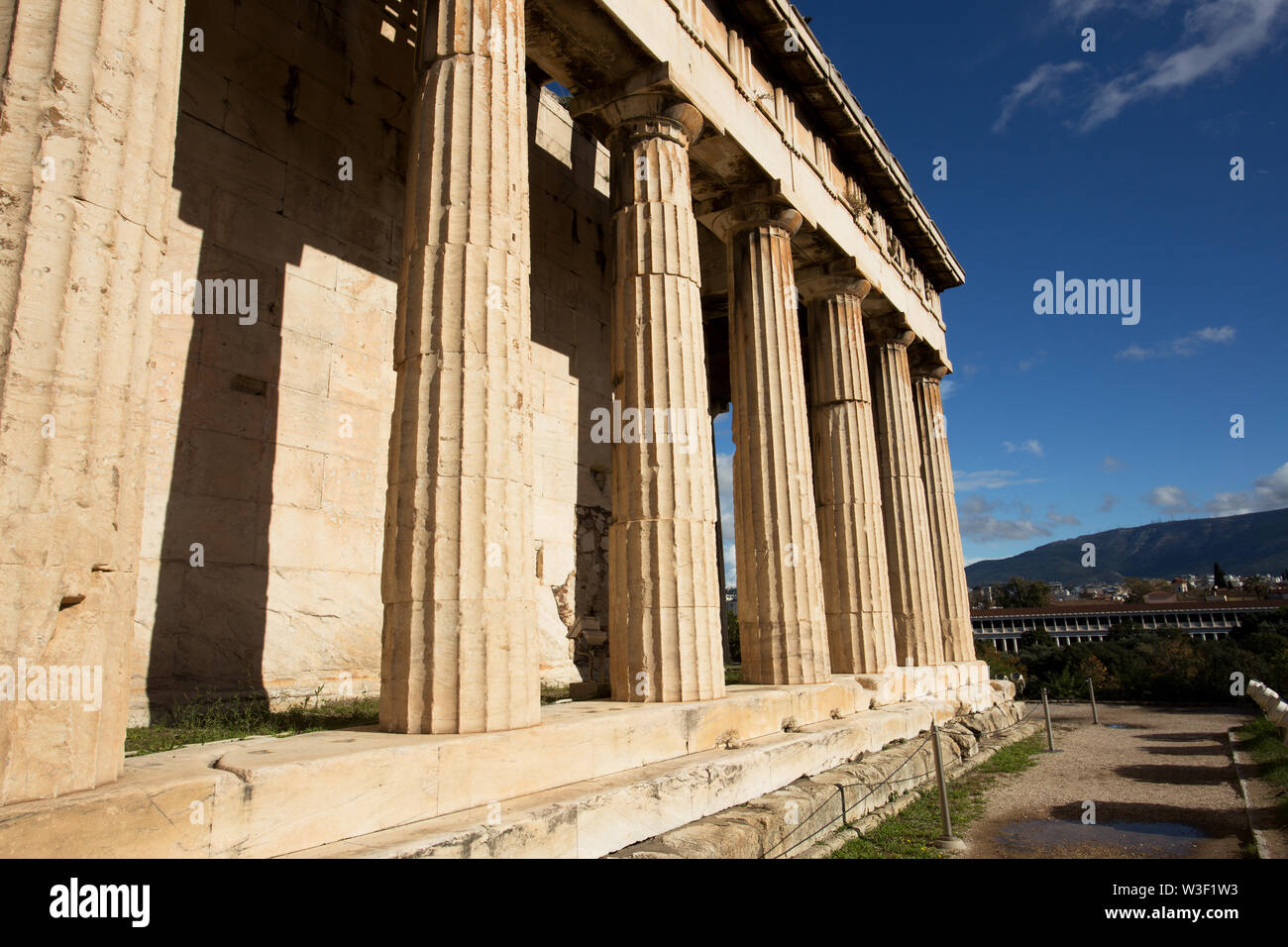 Keywords: hephaestus, temple, greece, athens, ancient, agora, acropolis, greek, historic, old, travel, architecture, city, tourism, culture, europe, h - Stock Image