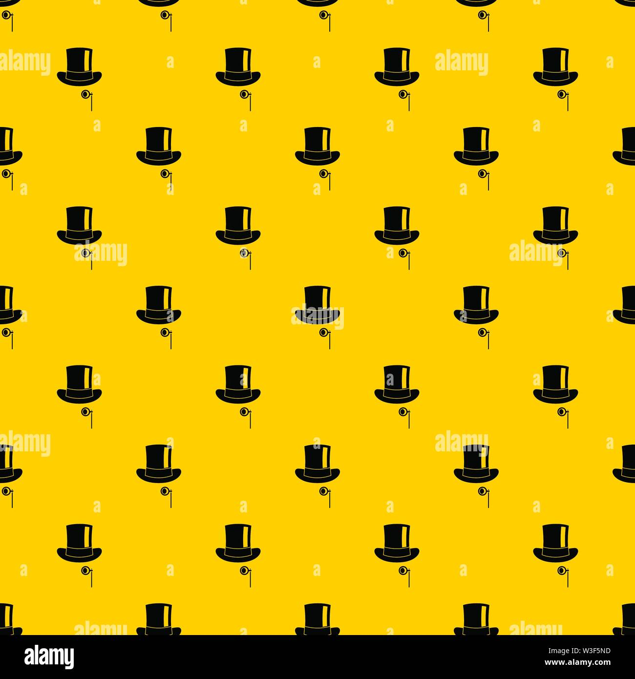 Hat with monocle pattern vector Stock Vector