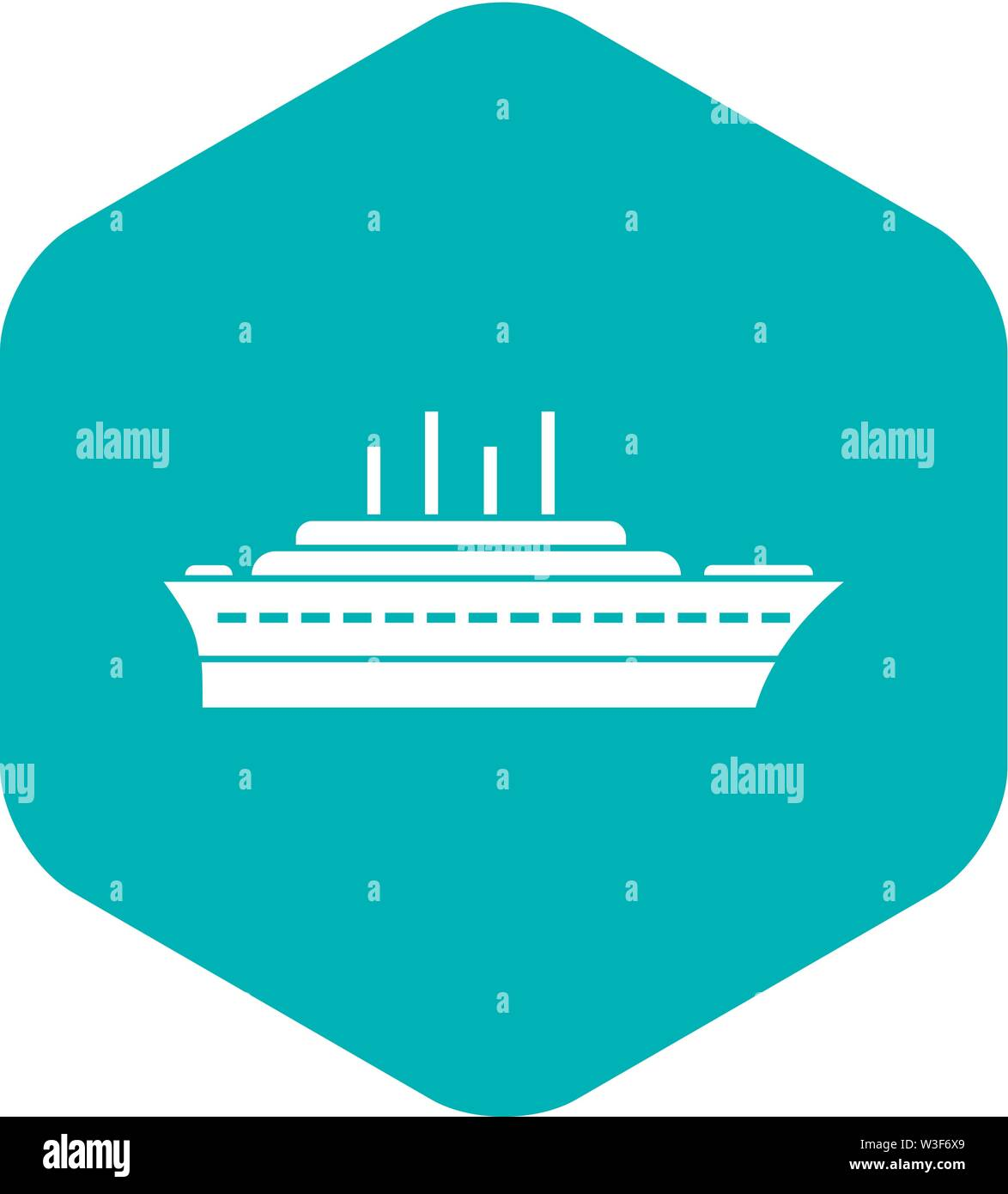 Ship icon, simple style Stock Vector