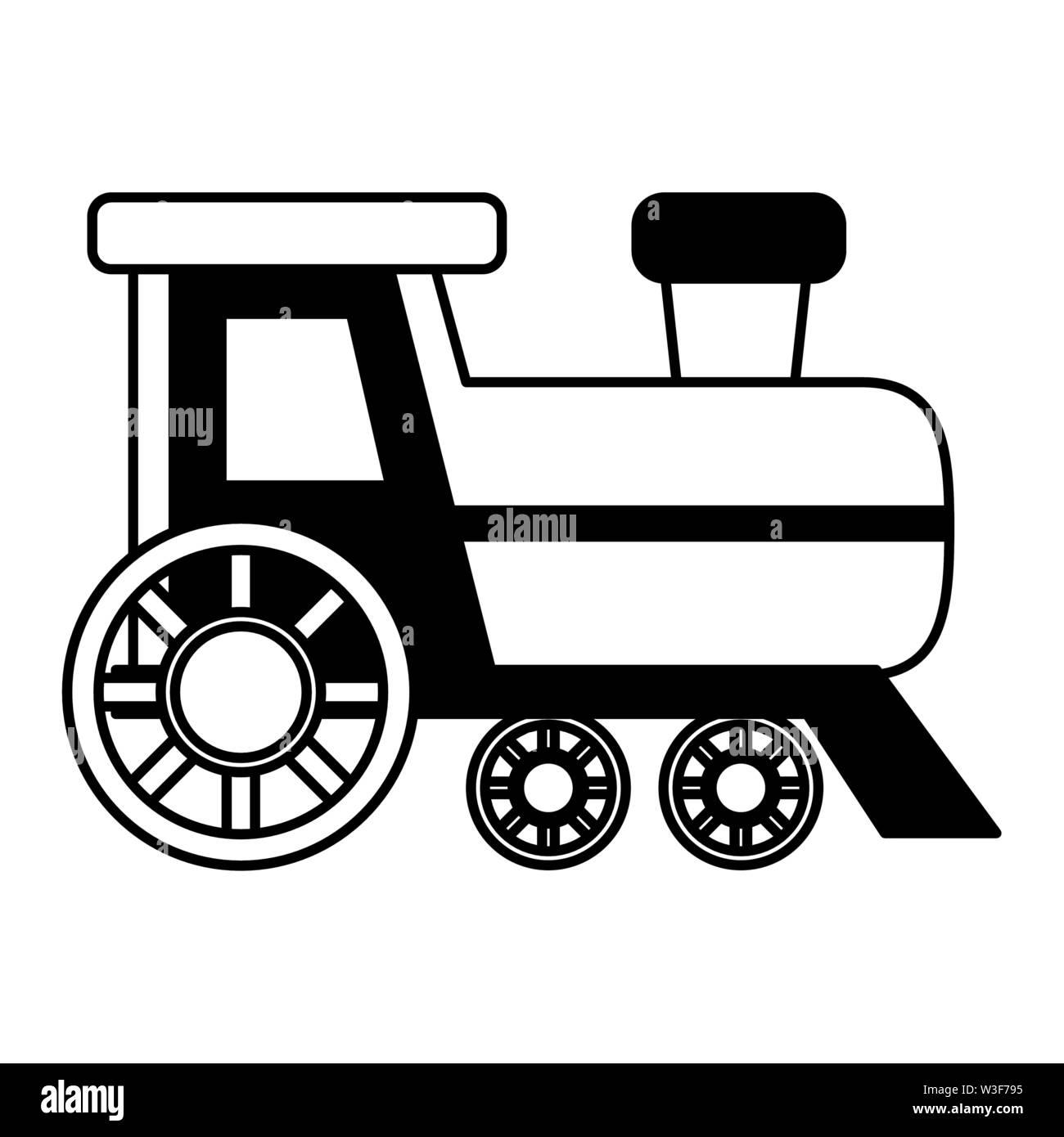 train toy on white background vector illustration - Stock Image