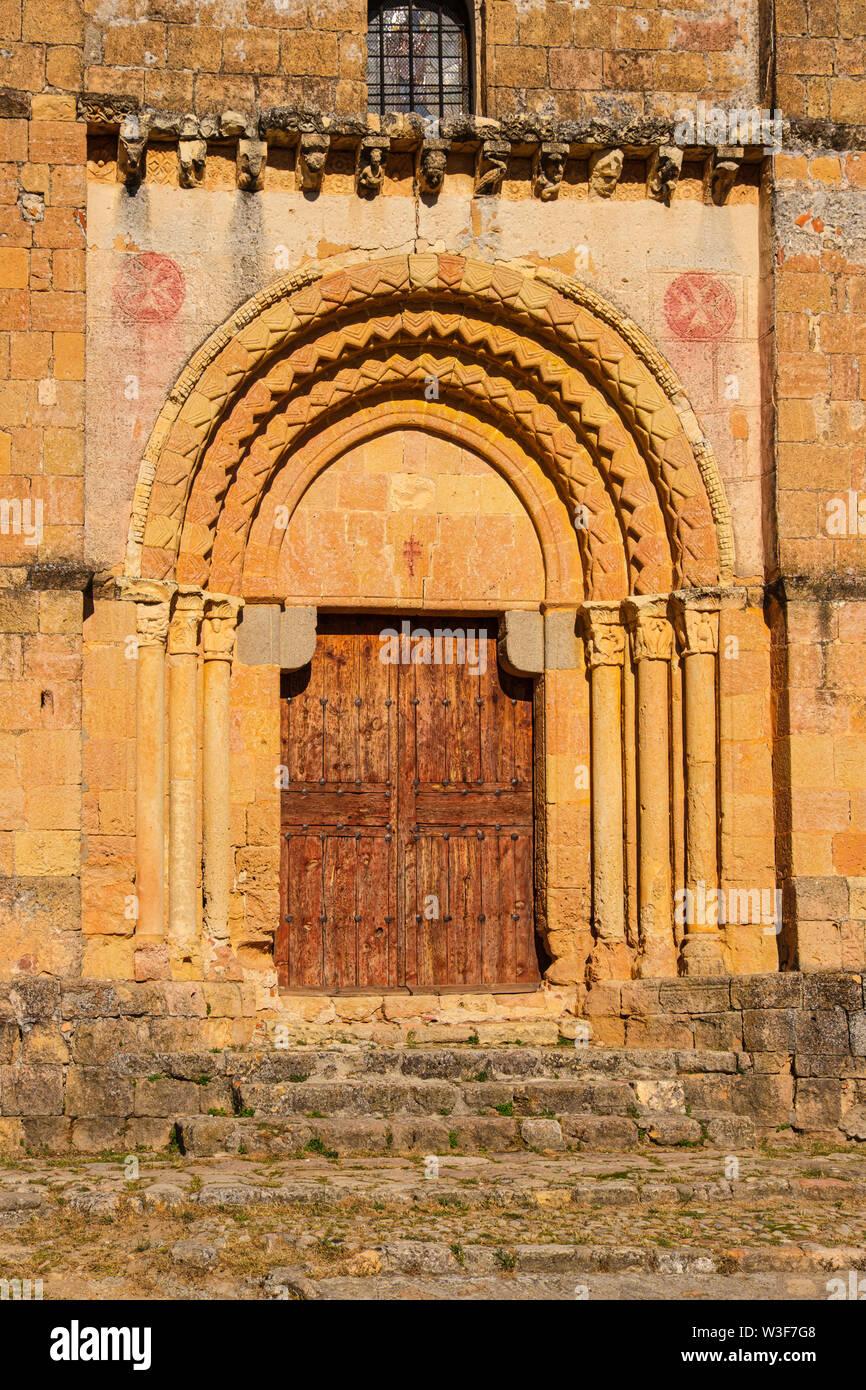 Romanesque church La Vera cruz or Holy sepulchre, Segovia city. Castilla León, Spain Europe - Stock Image