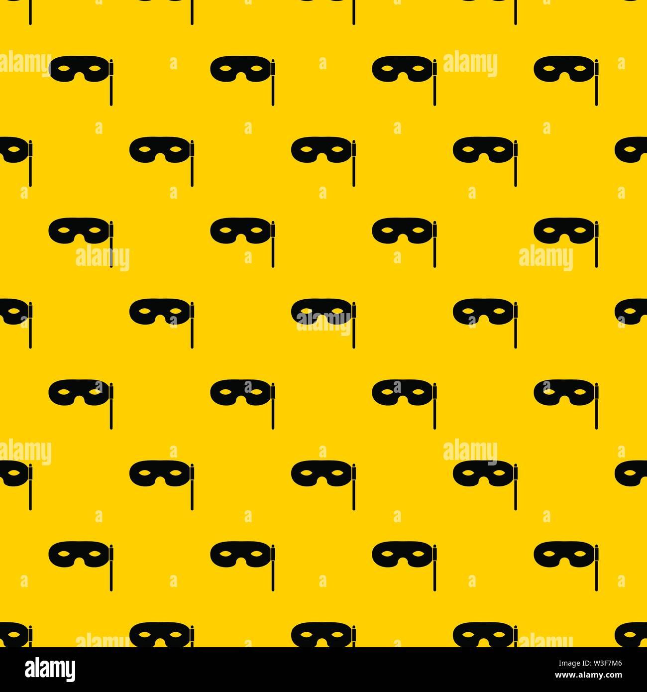 Carnival mask pattern vector - Stock Image