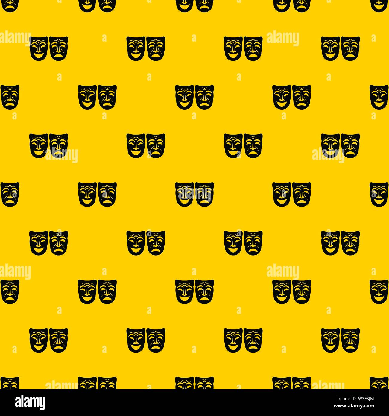 Happy and sad mask pattern vector - Stock Image