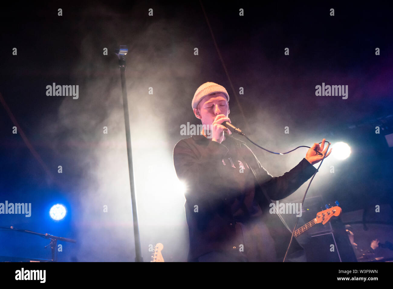 Bergen, Norway - June 16th, 2019. The Norwegian singer, songwriter and musician dePresno performs a live concert during the Norwegian music festival Bergenfest 2019 in Bergen. (Photo credit: Gonzales Photo - Jarle H. Moe). - Stock Image