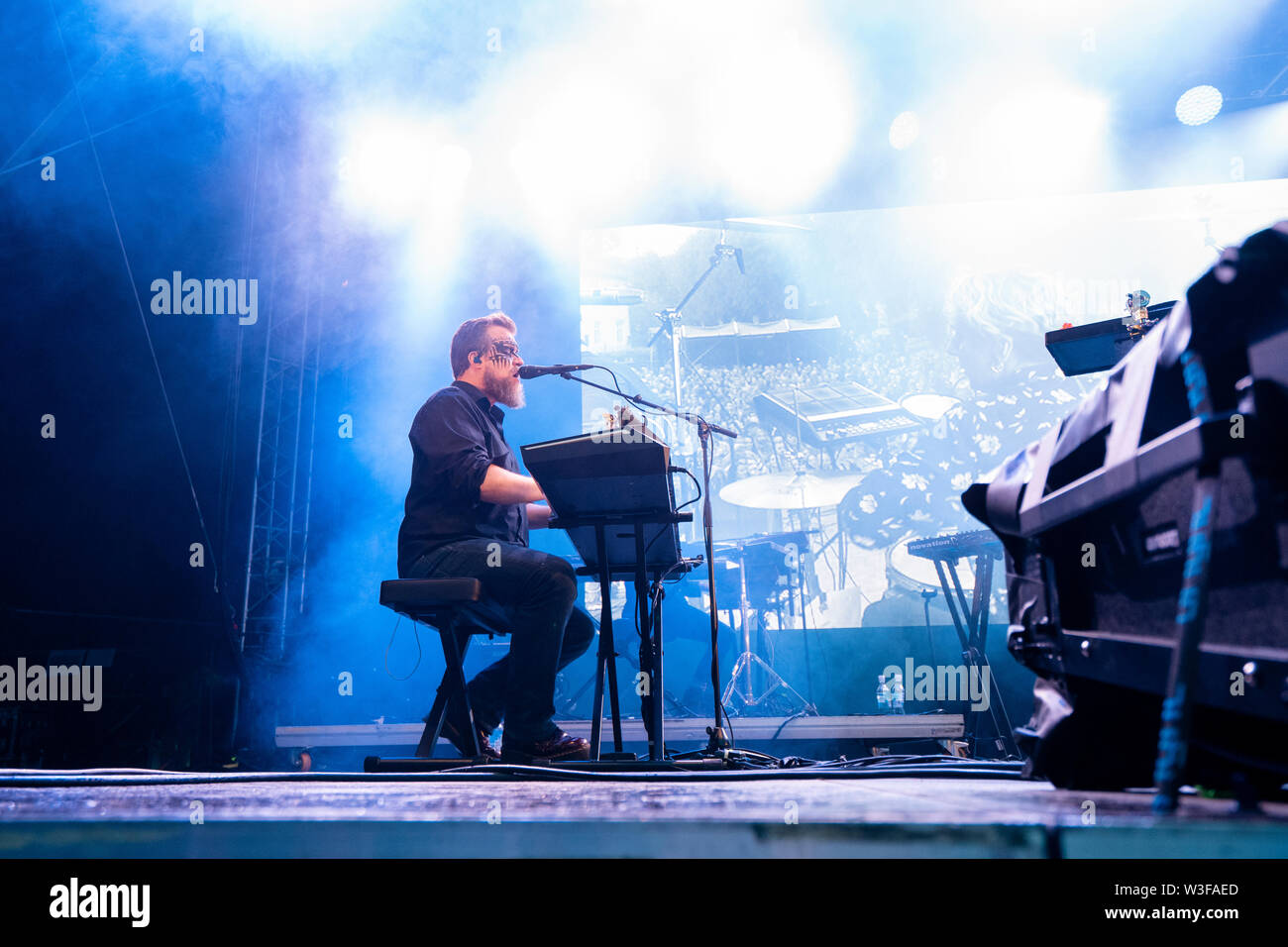 Bergen, Norway - June 15th, 2019. The American singer, musician and songwriter John Grant performs a live concert during the Norwegian music festival Bergenfest 2019 in Bergen. (Photo credit: Gonzales Photo - Jarle H. Moe). - Stock Image