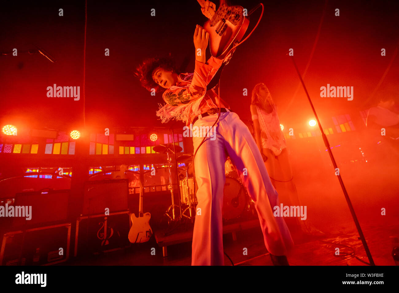 Bergen, Norway - June 15th, 2019. The American punk band Starcrawler performs a live concert during the Norwegian music festival Bergenfest 2019 in Bergen. Here guitarist Henri Cash is seen live on stage. (Photo credit: Gonzales Photo - Jarle H. Moe). - Stock Image