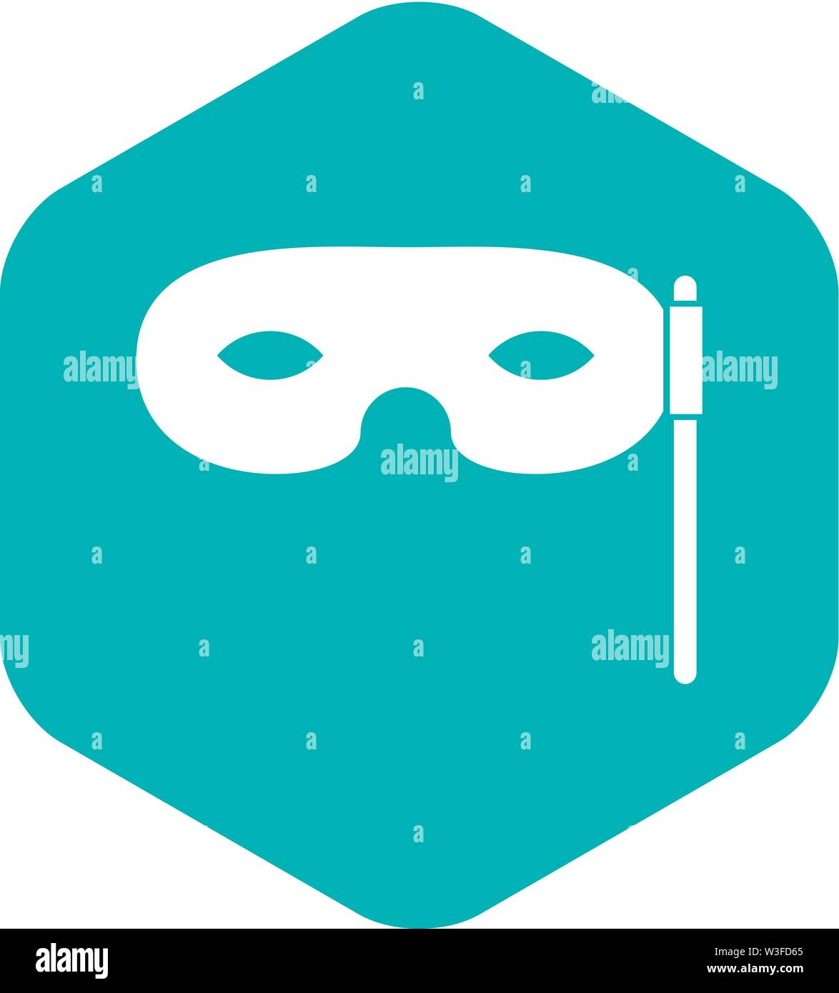 Carnival mask icon, simple style - Stock Image