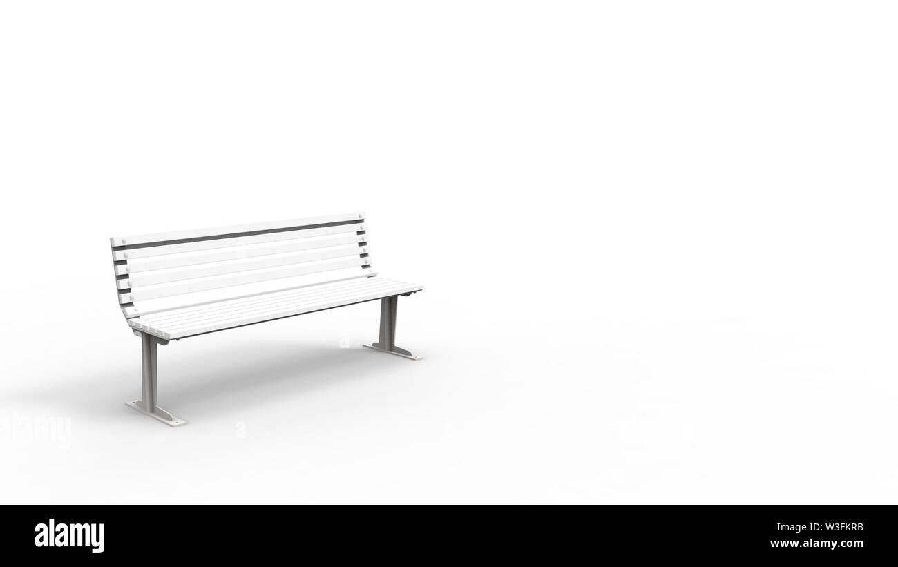 Superb 3D Rendering Of A White Outside Furniture Bench Isolated In Andrewgaddart Wooden Chair Designs For Living Room Andrewgaddartcom