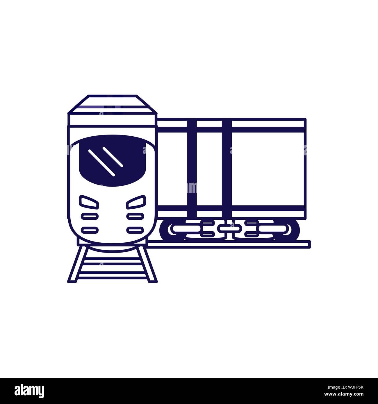 train travel vehicle isolated icon vector illustration design - Stock Image