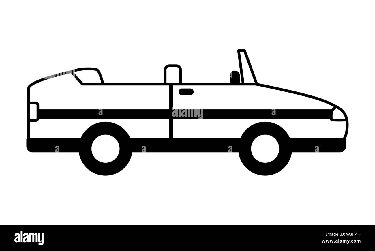 sport convertible car vehicle transport white background - Stock Image