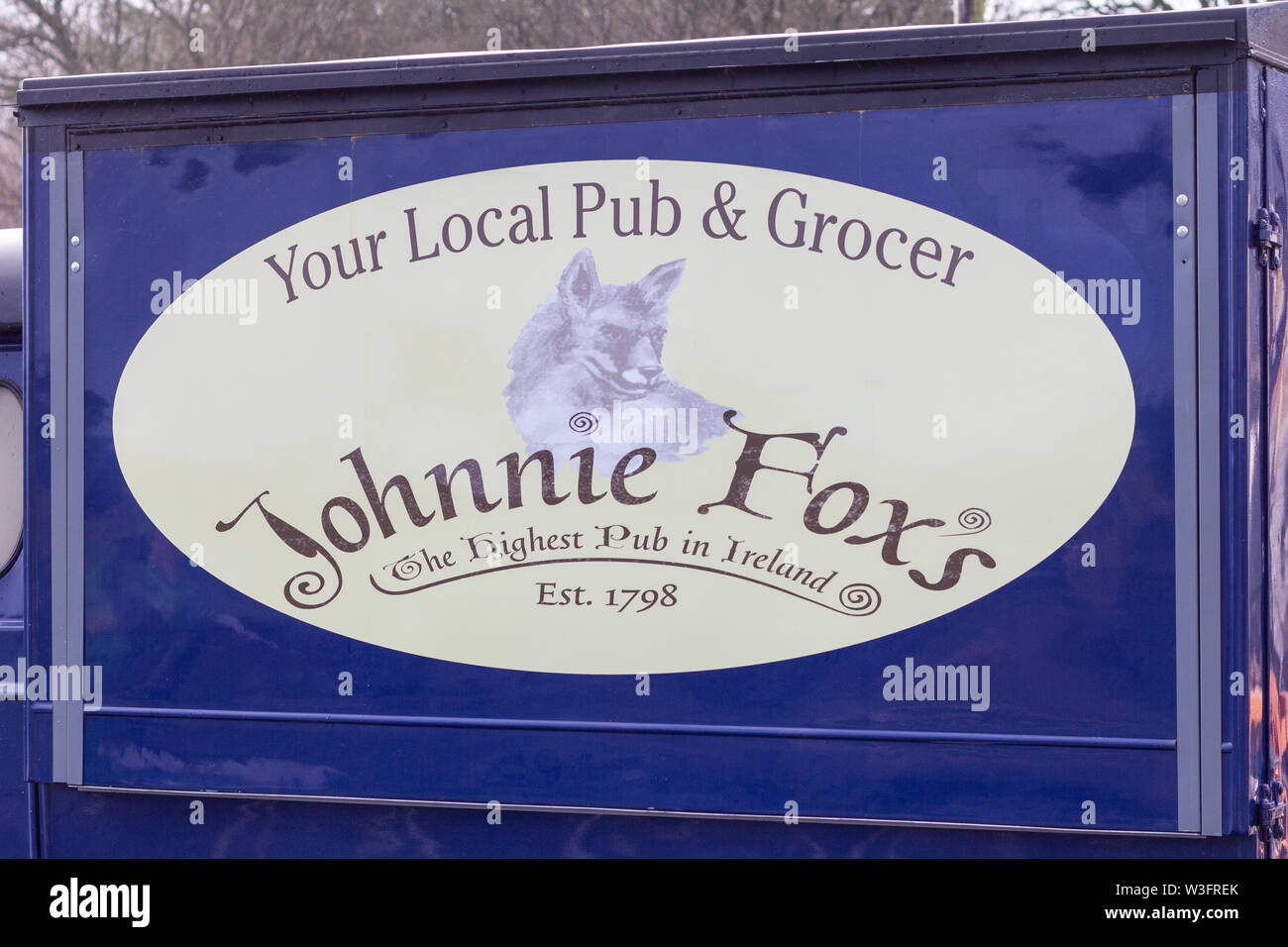 Glencullen, Ireland -January 12, 2019 - Johnnie Foxs Pub is a popular tourist destination near Dublin specializing in Irish food and entertainment. - Stock Image