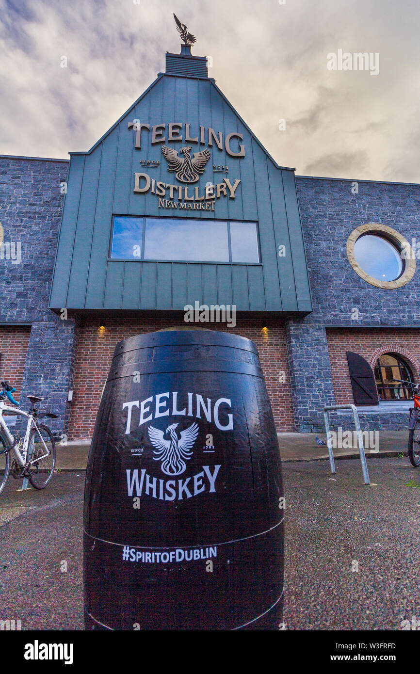 Dublin, Ireland - January 20, 2019 - Teeling Distillery as viewed from the street. It is a whiskey distillery established in 2015 housing the stills a Stock Photo