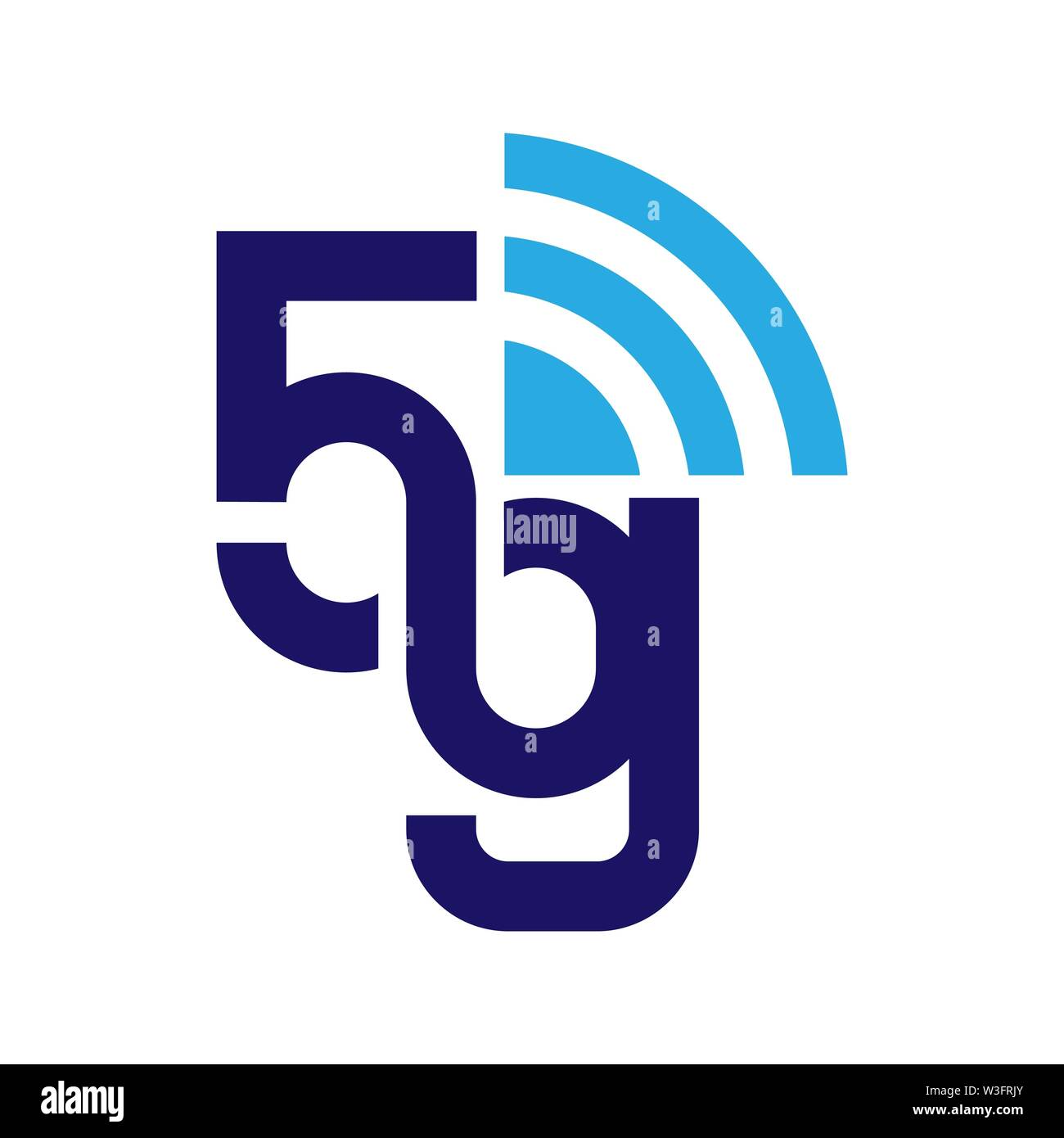 5G network logo. Logo network 5G connection. EPS 10. - Stock Image