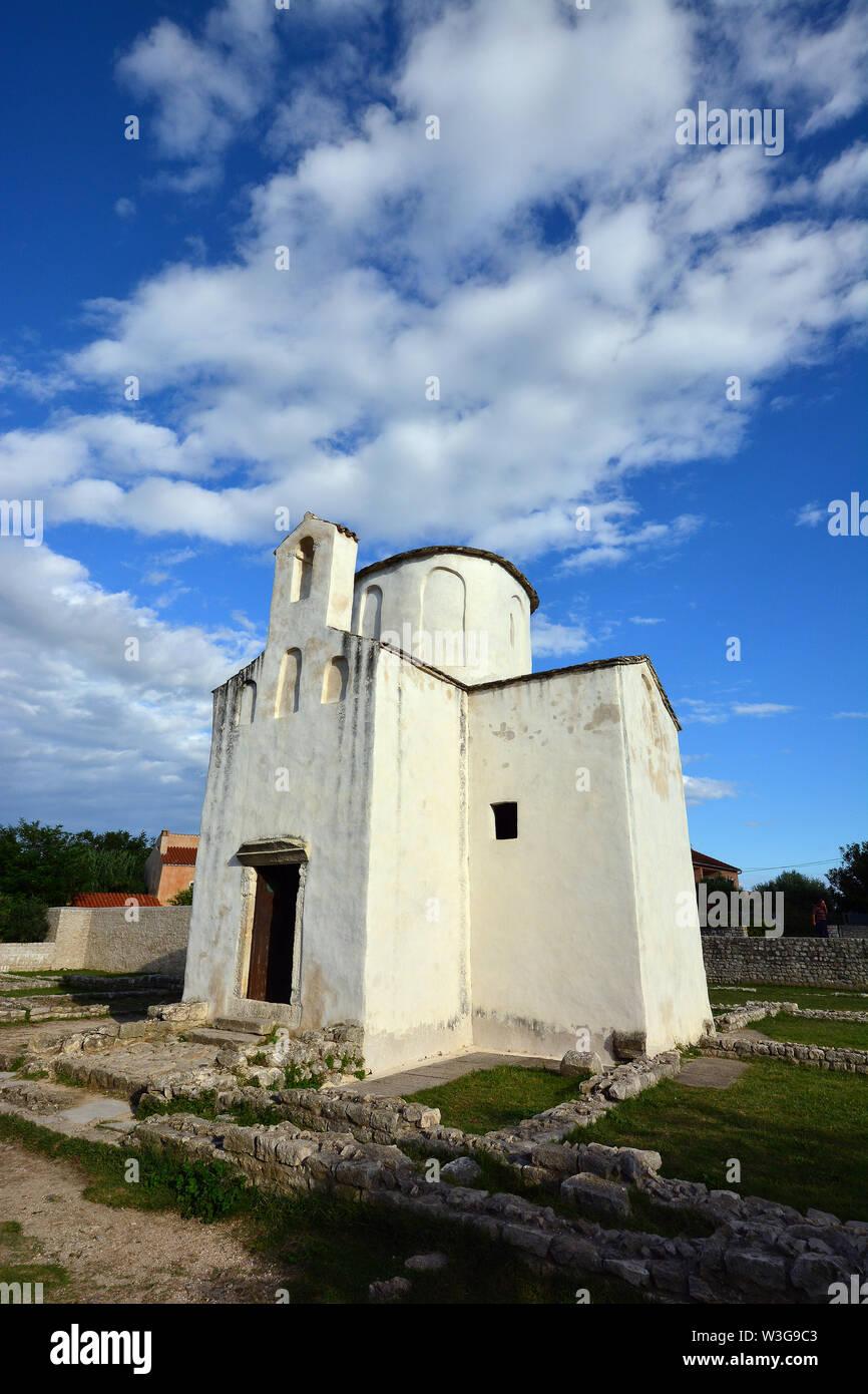 Church of the Holy Cross, Crkva svetog Križa, Nin, Croatia, Europe Stock Photo