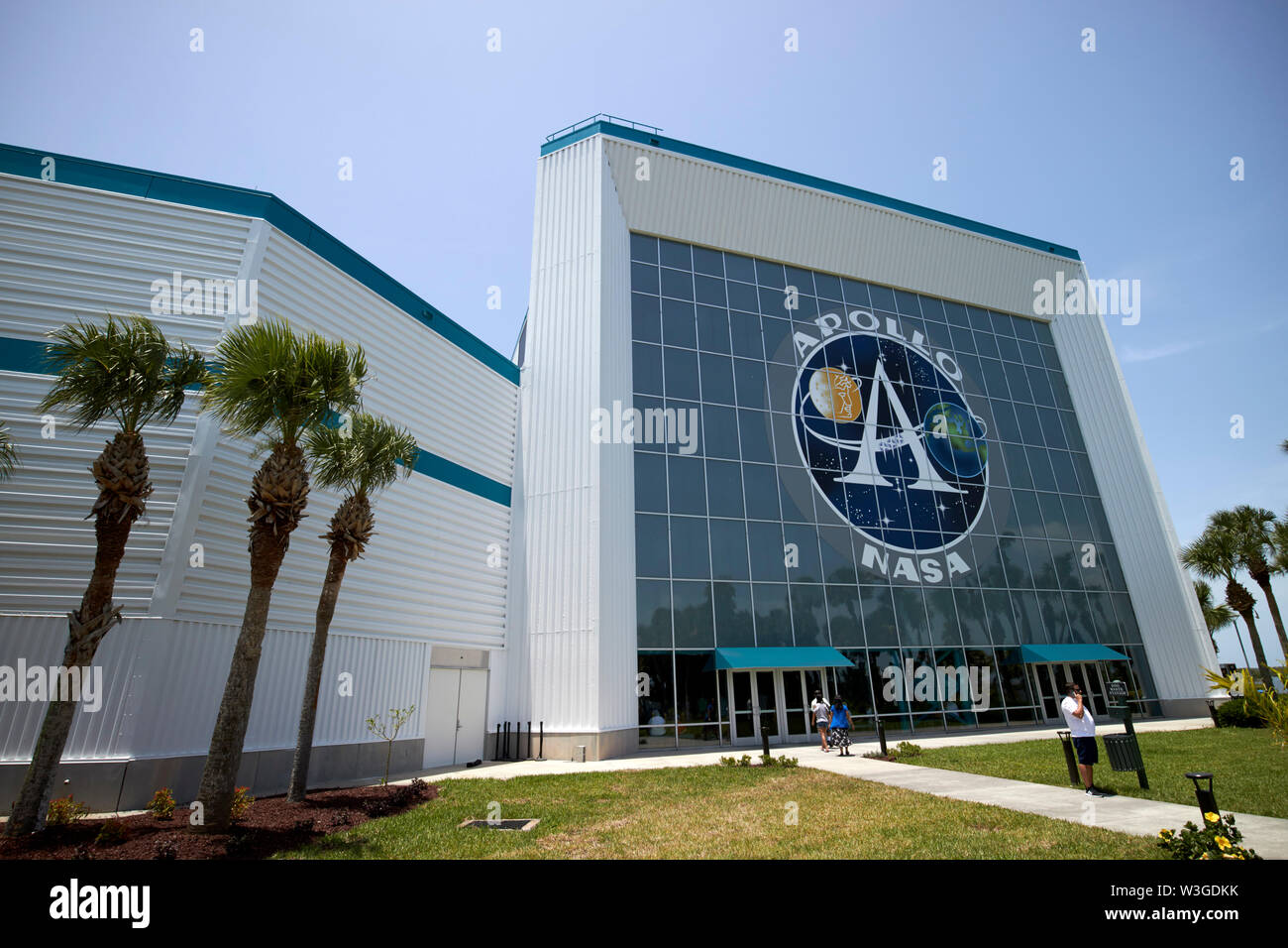The new Moon Tree Garden in the Apollo/Saturn 5 center Kennedy Space Center Florida USA on the week of the 50th anniversary of the moon landings - Stock Image