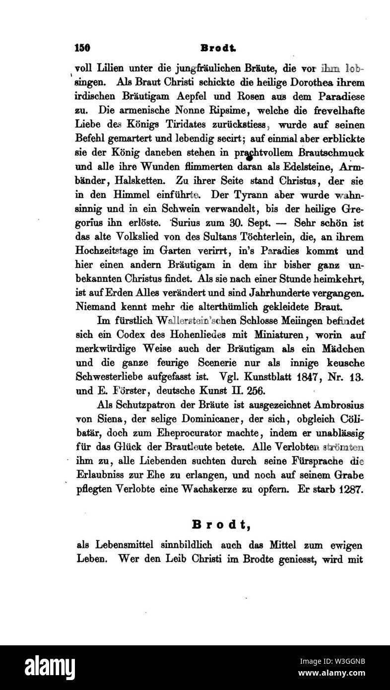 Christliche Symbolik (Menzel) I 150. - Stock Image