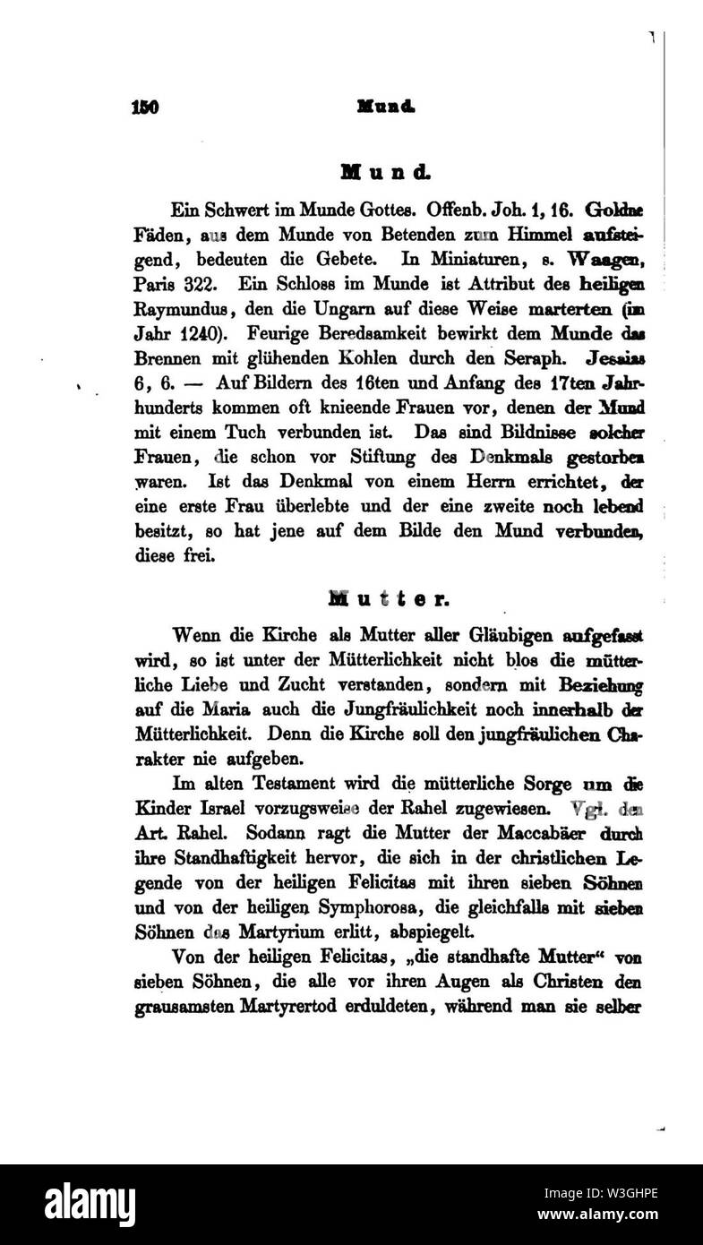 Christliche Symbolik (Menzel) II 150. - Stock Image