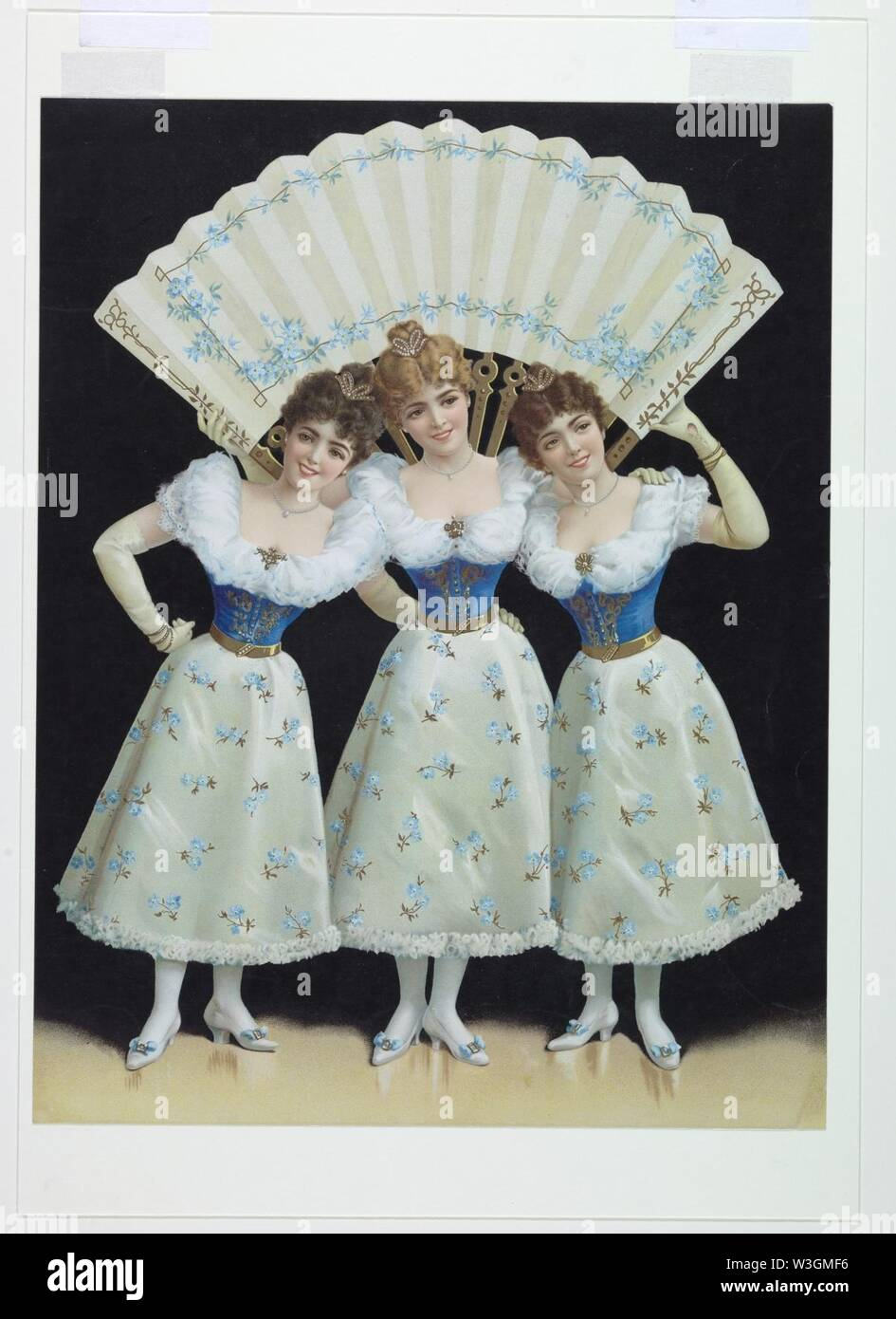 Chromolithographic Print, Advertising poster, ca. 1898 - Stock Image